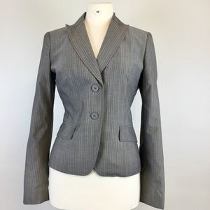 Anne Klein Stripes Gray Blazer Size 8 (B-98)